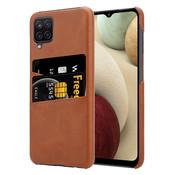 ShieldCase® Vintage case met pashouder Samsung Galaxy A12 (bruin)