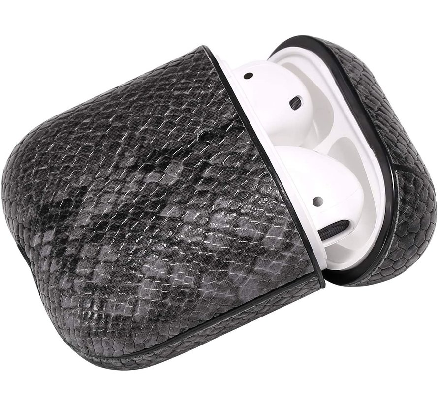 Shieldcase Guilty Grey Snake Print Apple Airpods case (donkergrijs)