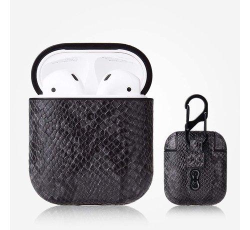 ShieldCase® Shieldcase Guilty Grey Snake Print Apple Airpods case (donkergrijs)