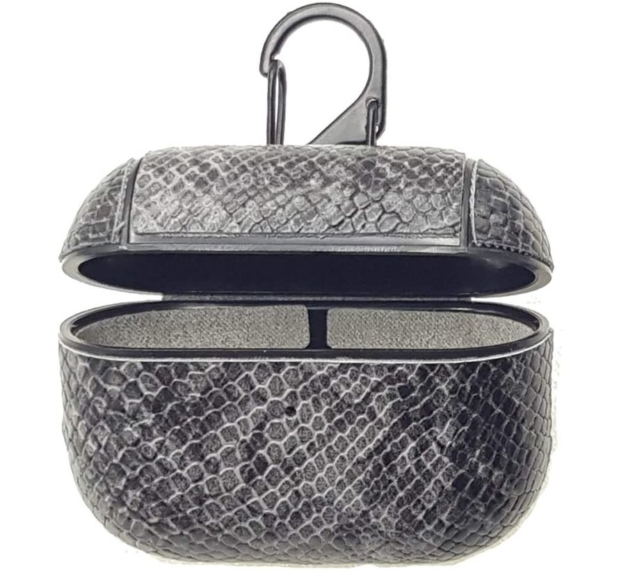 Shieldcase Guilty Grey Snake Print Apple Airpods Pro case (donkergrijs)