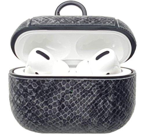 ShieldCase® Shieldcase Guilty Grey Snake Print Apple Airpods Pro case (donkergrijs)