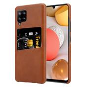 ShieldCase® Vintage case met pashouder Samsung Galaxy A42 5G (bruin)