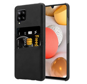 ShieldCase® Vintage case met pashouder Samsung Galaxy A42 5G (zwart)