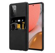 ShieldCase® Vintage case met pashouder Samsung Galaxy A72 (zwart)