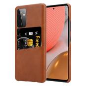 ShieldCase® Vintage case met pashouder Samsung Galaxy A72 (bruin)