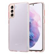 ShieldCase® Samsung Galaxy S21 Plus TPU hoesje (transparant / roze glitter)