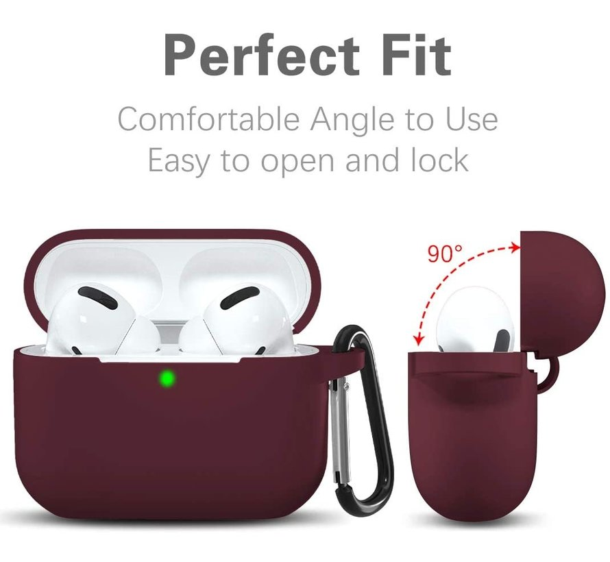 Shieldcase Airpods Pro silicone case (burgundy)