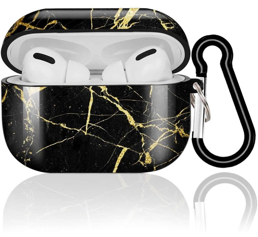 Shieldcase Amazing Black Marmer Airpods Pro Case (zwart)