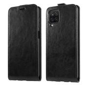 ShieldCase® Samsung Galaxy A12 flip case (zwart leer)