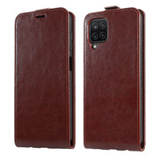 ShieldCase® Samsung Galaxy A12 flip case (bruin leer)