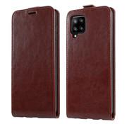 ShieldCase® Samsung Galaxy A42 5G Flip case (bruin leer)