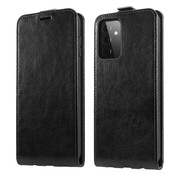 ShieldCase® Samsung Galaxy A72 flip case (zwart leer)