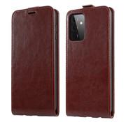 ShieldCase® Samsung Galaxy A72 flip case (bruin leer)