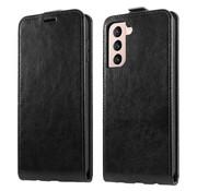 ShieldCase® Samsung Galaxy S21 flip case (zwart leer)