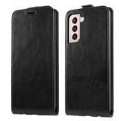 ShieldCase® Samsung Galaxy S21 Plus flip case (zwart leer)