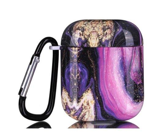 ShieldCase® Shieldcase Galaxy Marmer Airpods Case (paars)