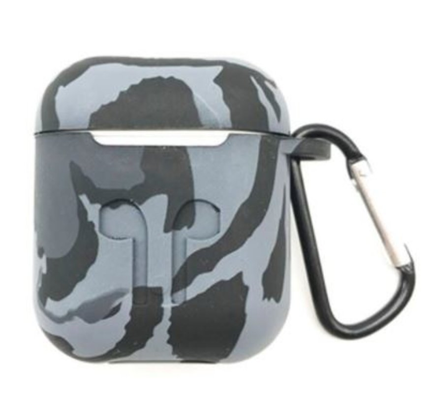Shieldcase Camouflage Pattern Silicone Airpods Case (grijs)
