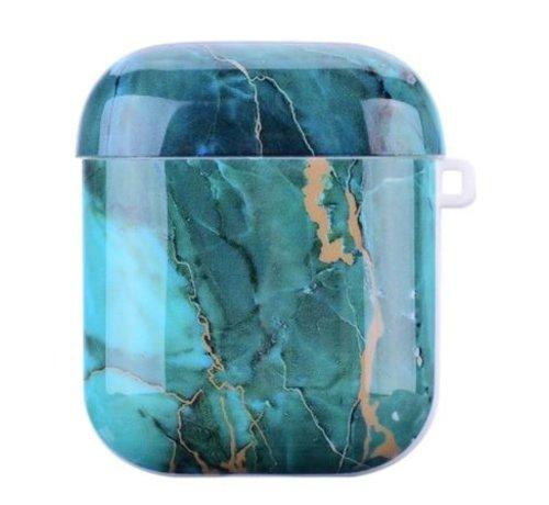 ShieldCase® Shieldcase Glossy Green Marmer Airpods Case (groen)