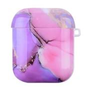 ShieldCase® Lovely Lila Marmer Airpods Case (lila/roze)
