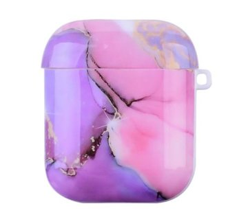 ShieldCase® Lovely Lila Marmer Airpods Case (lila/roze)