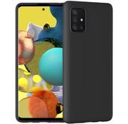 Ceezs Samsung A51 hoesje siliconen case zwart