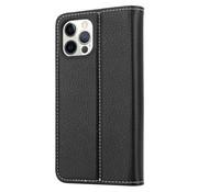 ShieldCase® Genuine leather case iPhone 12 Pro (zwart)