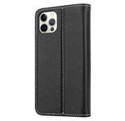 ShieldCase® Genuine leather case iPhone 12 Pro Max (zwart)