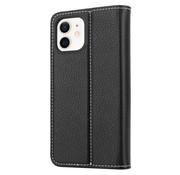ShieldCase® Genuine leather case iPhone 12 Mini (zwart)