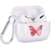 ShieldCase® Butterfly Kisses Apple Airpods Pro case (transparant/roze)