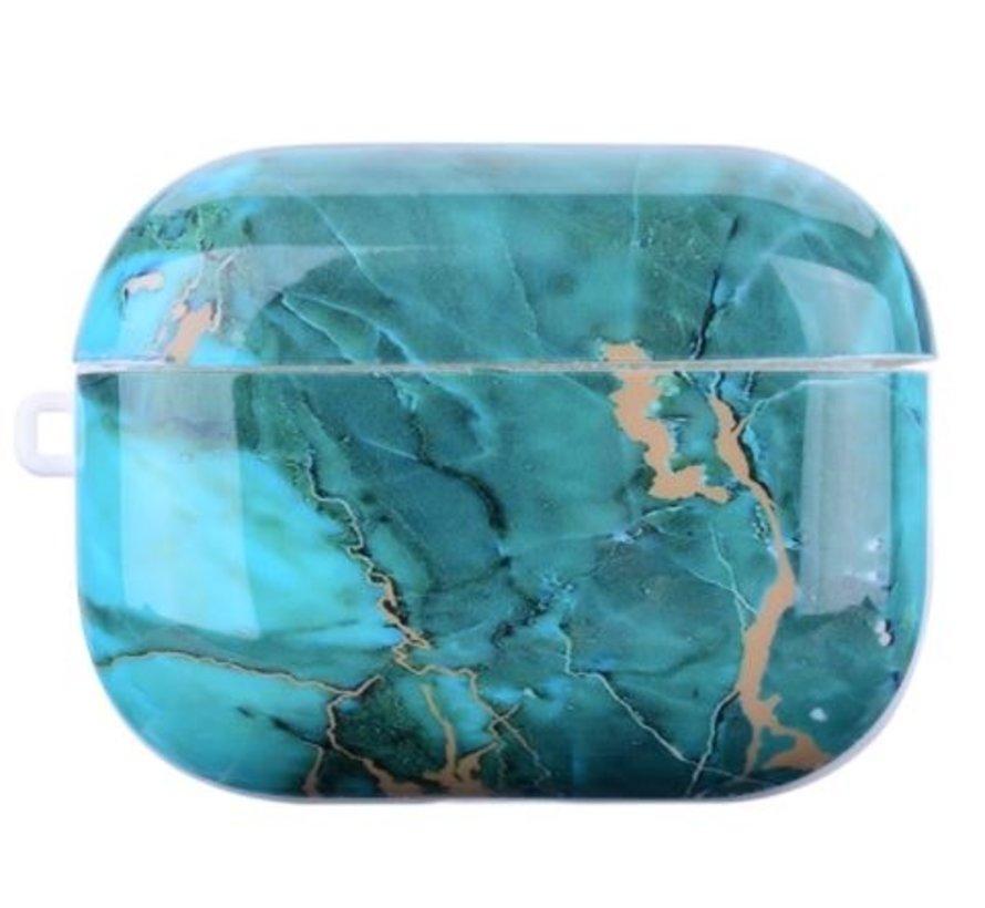 Shieldcase Glossy Green Marmer Airpods Pro Case (groen)