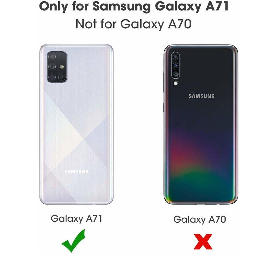 ShieldCase Booktype case Samsung Galaxy A71 (rosé goud)