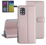 ShieldCase® Booktype case Samsung Galaxy A71 (rosé goud)