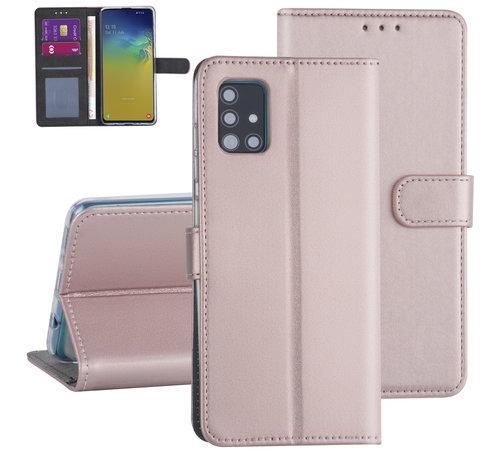 ShieldCase® ShieldCase Booktype case Samsung Galaxy A71 (rosé goud)