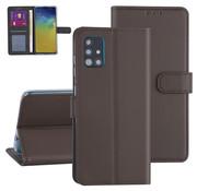 ShieldCase® Booktype case Samsung Galaxy A71 (bruin)