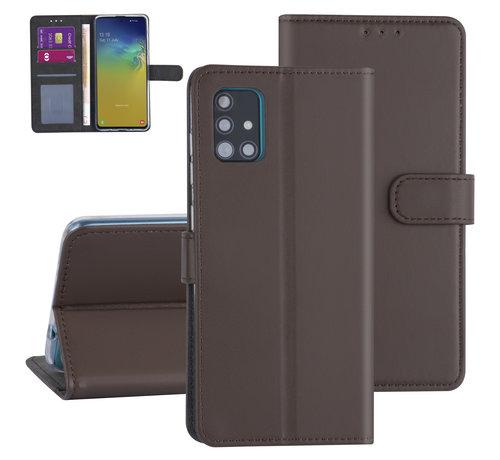 ShieldCase® ShieldCase Booktype case Samsung Galaxy A71 (bruin)