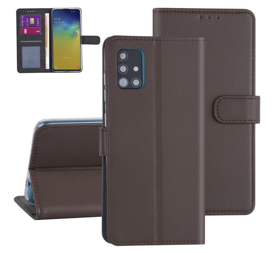 ShieldCase Booktype case Samsung Galaxy A71 (bruin)