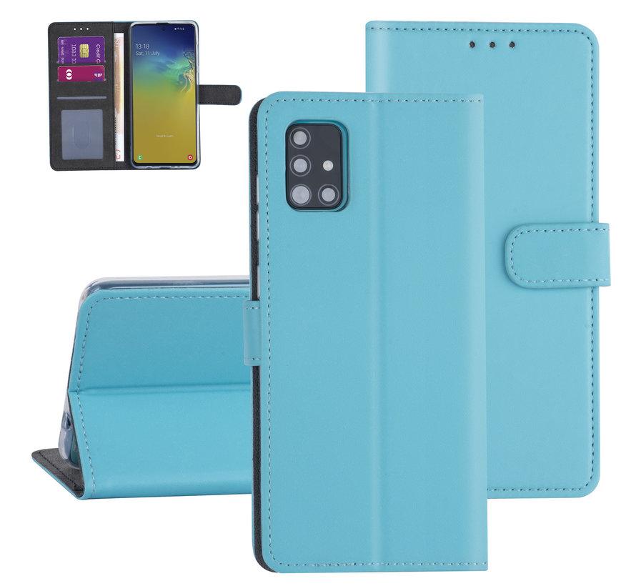 ShieldCase Booktype case Samsung Galaxy A71 (Lichtblauw)