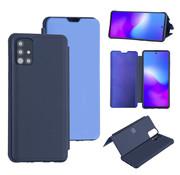 ShieldCase® Harde Booktype case Samsung Galaxy A71 (Diepblauw)