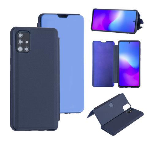 ShieldCase® ShieldCase Harde Booktype case Samsung Galaxy A71 (Diepblauw)