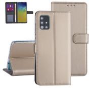 ShieldCase® Booktype case Samsung Galaxy A51 (goud)