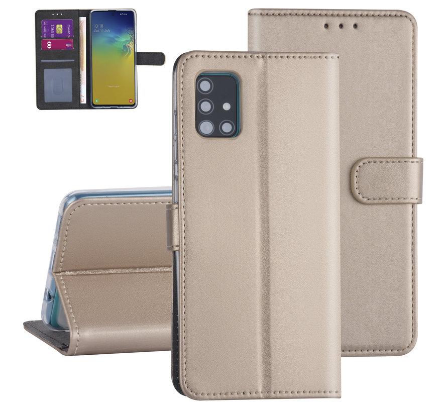 ShieldCase Booktype case Samsung Galaxy A51 (goud)