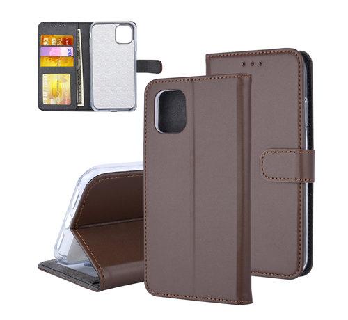 ShieldCase® ShieldCase Booktype case iPhone 11 (bruin)