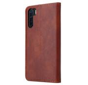 ShieldCase® Wallet case Oppo A91 (bruin)