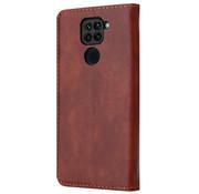 ShieldCase® Wallet case Xiaomi Redmi Note 9 (bruin)