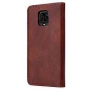 ShieldCase® Xiaomi Redmi Note 9 Pro / 9s wallet case (bruin)
