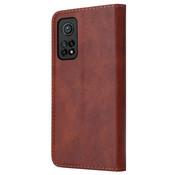 ShieldCase® Wallet case Xiaomi Mi 10T / Mi 10T Pro (bruin)