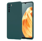 ShieldCase® Oppo A91 silicone case (donkergroen)