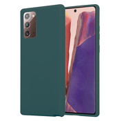 ShieldCase® Samsung Galaxy Note 20 silicone case (donkergroen)