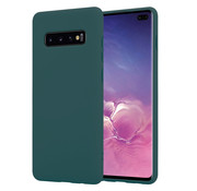 ShieldCase® Silicone case Samsung Galaxy S10 Plus (donkergroen)
