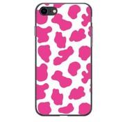 ShieldCase® Holy Cow iPhone 8  / iPhone 7 / SE hoesje (roze/wit)